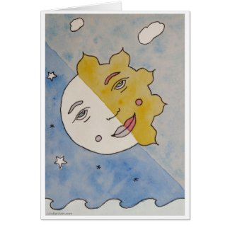 Creative Sun-Moon Eclipse Card
