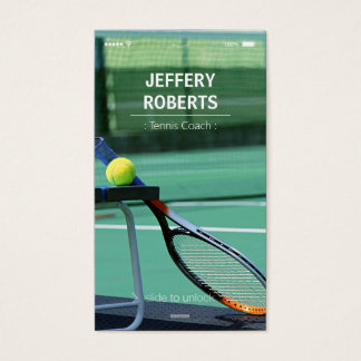 Creative Tennis Coach Tennis Trainer Business Card