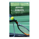 Creative Tennis Coach Tennis Trainer Double-Sided Standard Business Cards (Pack Of 100)