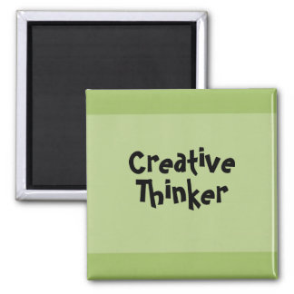 Creative Thinker 2 Inch Square Magnet