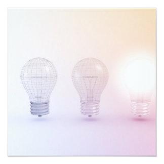 Creative Thinking with Light Bulb Illuminated Card