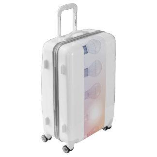 Creative Thinking with Light Bulb Illuminated Luggage