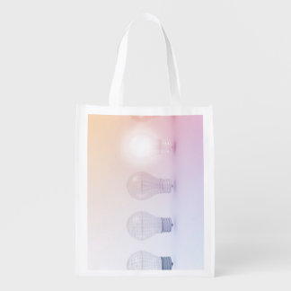 Creative Thinking with Light Bulb Illuminated Reusable Grocery Bag