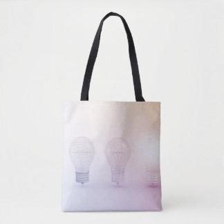 Creative Thinking with Light Bulb Illuminated Tote Bag