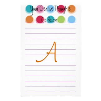 """Creative Thoughts """"A"""" Good Personalized Stationery"""