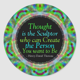 Creative Thoughts Quote Custom Art Sticker