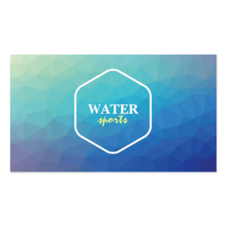 Creative water theme business card
