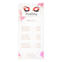 Creative Watercolor Eyebrows Microblading Rack Card