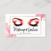 Creative Watercolor Eyes Makeup/Lashes Business Card