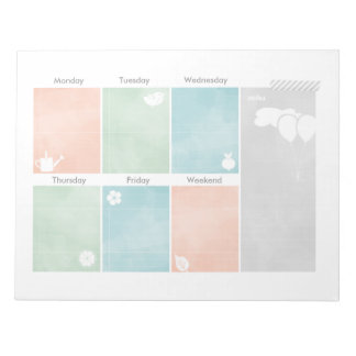 Creative Watercolor Weekly Planner Notepad