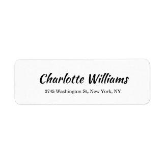 Creative White Minimalist Professional Modern Label