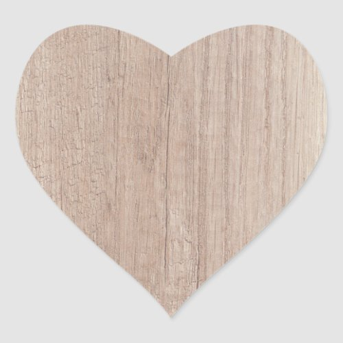 Creative Wood Board Look Blank Template Trendy Heart Sticker