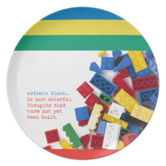Creative Writer's Block Solution Dinner Plates