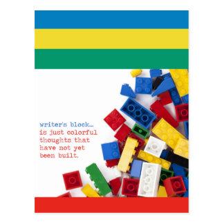 Creative Writer's Block Solution Postcard