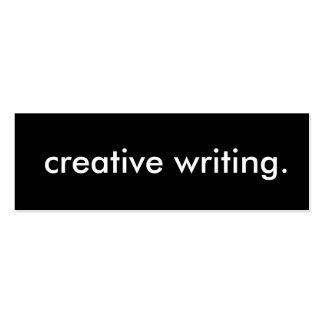 creative writing. business card template