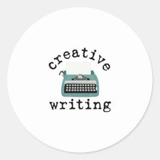Creative Writing Classic Round Sticker
