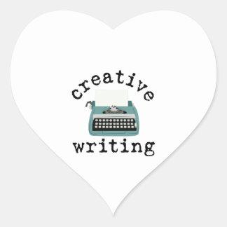 Creative Writing Heart Sticker