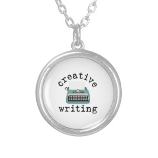 Creative Writing Round Pendant Necklace