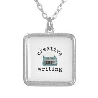 Creative Writing Square Pendant Necklace