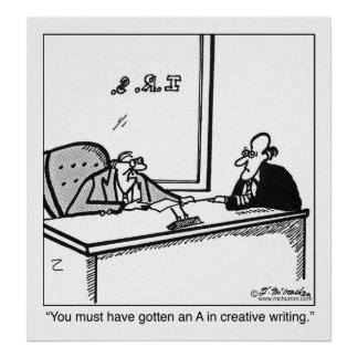Creative Writing on Tax Return Poster