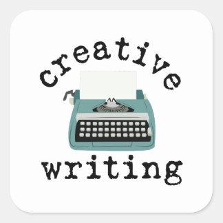 Creative Writing Square Sticker
