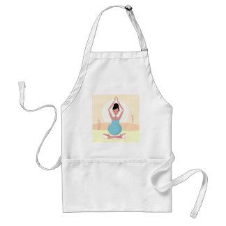 Creative yoga girl Illustration : Tshirts Adult Apron