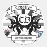 CreativeDevelopment Round Stickers