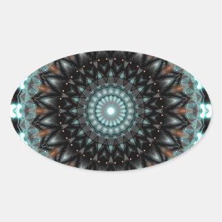 Creatividad artística de la mandala creada por Tut Calcomanías De Ovales