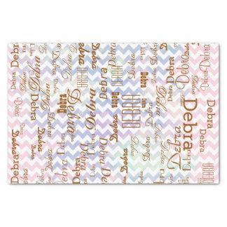 creatividad con el galón y el nombre personalizado papel de seda pequeño