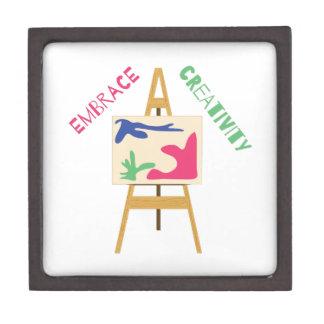 Creatividad del abrazo caja de recuerdo de calidad
