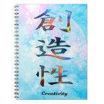 Creatividad del kanji libros de apuntes