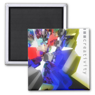 Creativity 2 Inch Square Magnet