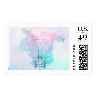 Creativity and Business Innovation as a Concept Postage Stamp