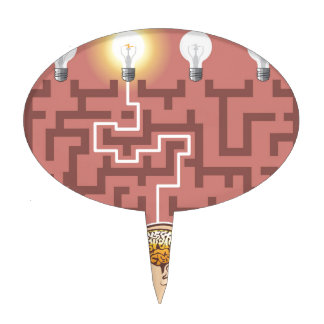 Creativity Brainstorming Passage through Maze Cake Topper