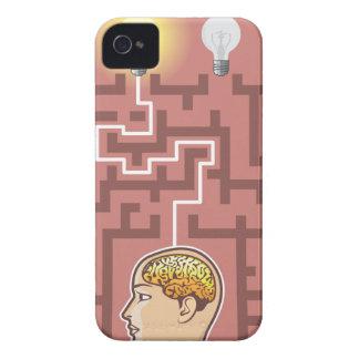 Creativity Brainstorming Passage through Maze iPhone 4 Cover