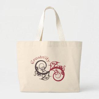Creativity Graphic Swirl Tote Bag
