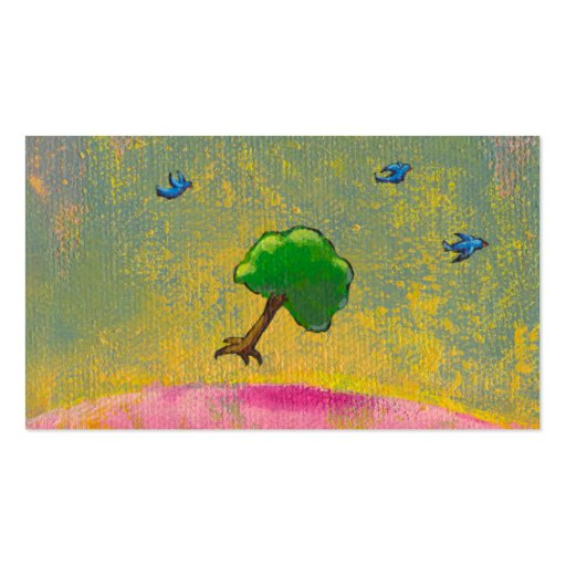 Creativity imagination fun hopeful art flying tree Double-Sided standard business cards (Pack of 100)
