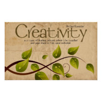 Creativity Inspirational Poster Print