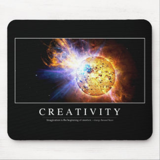 Creativity: Inspirational Quote Mouse Pad