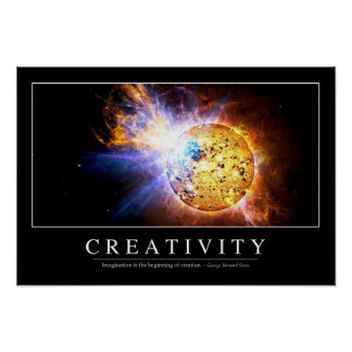Creativity: Inspirational Quote Poster