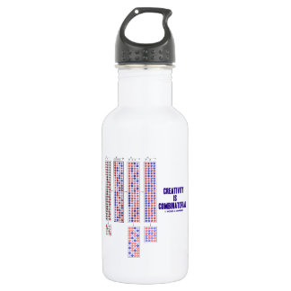 Creativity Is Combinatorial (Permutations) 18oz Water Bottle
