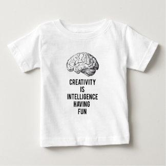creativity is intelligence having fun baby T-Shirt