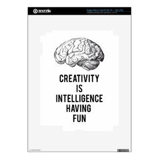 creativity is intelligence having fun iPad 3 decal