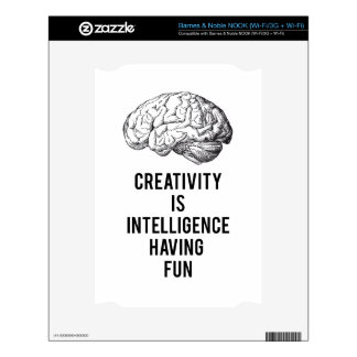 creativity is intelligence having fun decals for NOOK