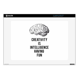 creativity is intelligence having fun decal for laptop