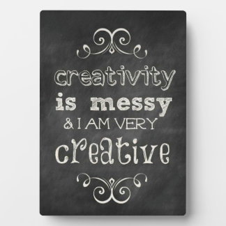 Creativity Is Messy Display Plaques