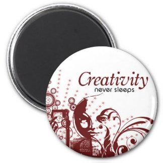 Creativity Never Sleeps Magnet