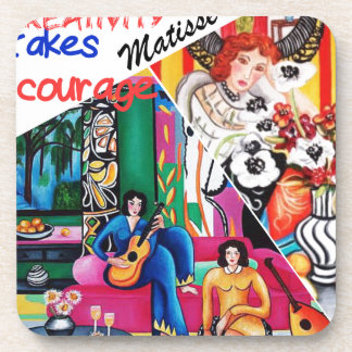 Creativity of Matisse painting collage Drink Coaster