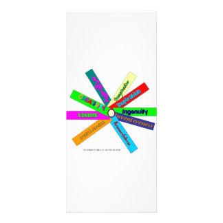 Creativity Thesaurus Wheel Rack Card