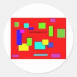 creativo colorido etiqueta redonda